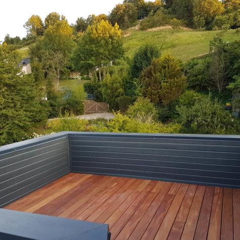11 terrasse bois exotique cumaru toit terrasse koh-po Honfleur