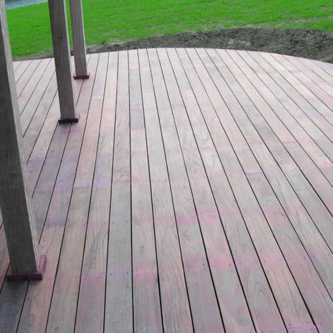 8 arrondi terrasse bois exotique koh-po Honfleur