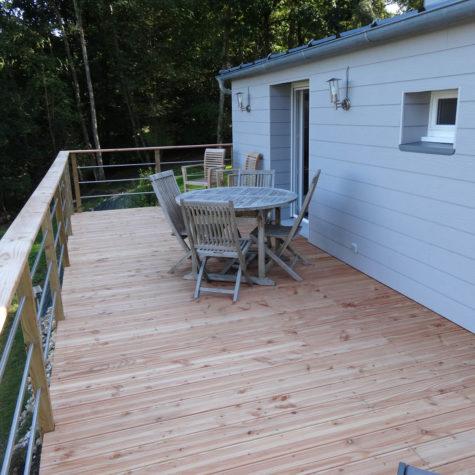 terrasse bois pin douglas classe 3 koh-po Honfleur 1